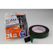 Nachi Double Sided Foam Tape High Tack, Permanent Bond. Black 24mm x 5m