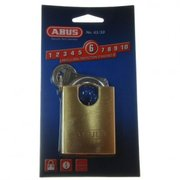 Abus Brass Padlock 65 Series 50mm Closed Shackle