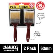 Handy Hardware 2pk 63mm Paint Brush