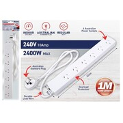 6-Way Power Board with 1 Meter Cord