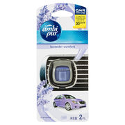 Ambi Pur Car Mini Clip Car Air Freshener Lavender Comfort 2ml