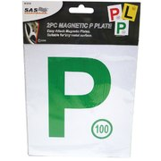 2pk Magnetic P Plate (Green) NSW
