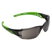Pro Choice Safety Glasses Cirrus-Clear Polycarbonate Frame with soft green overmoulded arms Smoke Lens, Anti-Fog