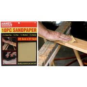 Handy Hardware 10pc Sandpaper 22.5cm x 27.5cm