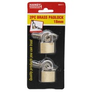 Handy Hardware 2pc Brass Padlock 18mm
