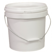 15L Pail With Lid White