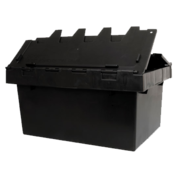 68 Litre Security Crate With Attached Lid, 671 x 450 x 315mm Black