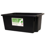 32 Litre Stacking Nesting Crate Black, 645 x 413 x 200mm