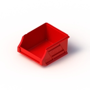 Tech Bin 5 Capacity 0.5 Litre Red L118 x W100 x H60mm