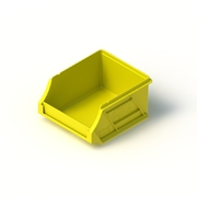 Tech Bin 5 Capacity 0.5 Litre Yellow L118 x W100 x H60mm