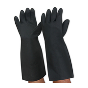 Pro Choice Black Night Latex Gauntlet Glove Medium Size 8