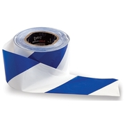 Pro Choice Blue/White Barricade Tape 75mm x 100m Roll