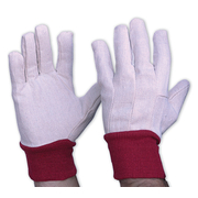 Pro Choice Cotton Drill Gloves With Red Knitted Wrist Ladies