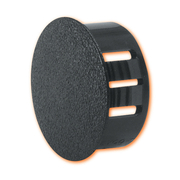 Dome Plugs 19mm Round Black