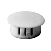 Dome Plugs 19mm Round White
