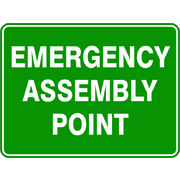 Emergency Assembly Point Sign 600 x 450mm Powdercoated Metal