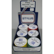 Stylus Electrical Tape 12pk Mixed Colours