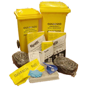 Workshop or Yard Universal Spill Kit Medium Size in 120 Litre Bin