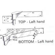 Goliath Ball Bearing Rising Hinge Left Hand Zinc Plated