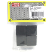 Pre-Packed 30 x 30mm Black Plastic Caps 4Pk