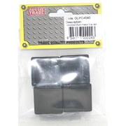 Pre-Packed 38 x 25mm Black Plastic Caps 4Pk