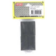 Pre-Packed 50 x 25mm Black Plastic Caps 4Pk