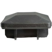Pre-Packed 65 x 65mm Black Plastic Cap 2Pk
