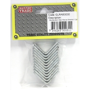 Pre-Packed 30 x 30 x 3mm Fence Bracket Galvanised 12pk