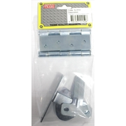 Pre-Packed Single Gate Kit Includes 1 pair Heavy Duty Hinges & 1 D-Latch Set