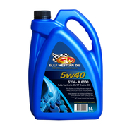 Gulf Western X6000 Full Synthetic 5w40 Oil 5 Litre