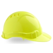 Pro Choice Hard Hat Vented 6 Point Fluro Yellow