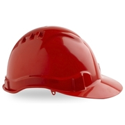Pro Choice Hard Hat Vented 6 Point Red