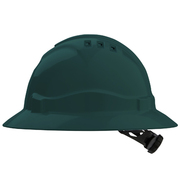 Hard Hat Vented 6 Point Full Brim Green