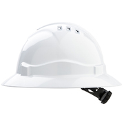 Hard Hat Vented 6 Point Full Brim White