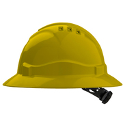 Hard Hat Vented 6 Point Full Brim Yellow