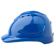 Pro Choice Hard Hat V9 Vented, 6 Point Pinlock Harness, Blue