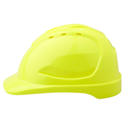 Pro Choice Hard Hat V9 Vented, 6 Point Pinlock Harness, Fluro Yellow