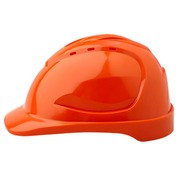 Pro Choice Hard Hat V9 Vented, 6 Point Pinlock Harness, Orange