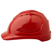 Pro Choice Hard Hat V9 Vented, 6 Point Pinlock Harness, Red