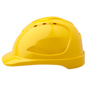 Pro Choice Hard Hat V9 Vented, 6 Point Pinlock Harness, Yellow