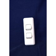 2 Gang Switch 10amp For Architrave