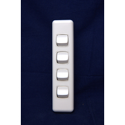 4 Gang Switch 10amp For Architrave
