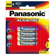 Panasonic AAA 4Pk Alkaline Battery
