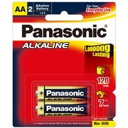 Panasonic AA 2Pk Alkaline Battery