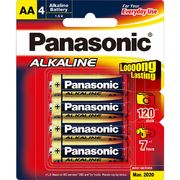 Panasonic AA 4Pk Alkaline Battery