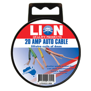 Lion Auto Cable 20amp x 4mm Red 5m
