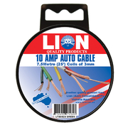 Lion Auto Cable 10amp x 3mm Green 7.5m