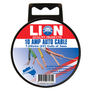Lion Auto Cable 10amp x 3mm Yellow 7.5m