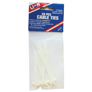 Lion Cable Ties 20pce 102mm x 2.4mm White