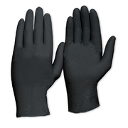 Pro Choice Extra Heavy Duty Black Nitrile Disposable Gloves Powder Free Large 100pk